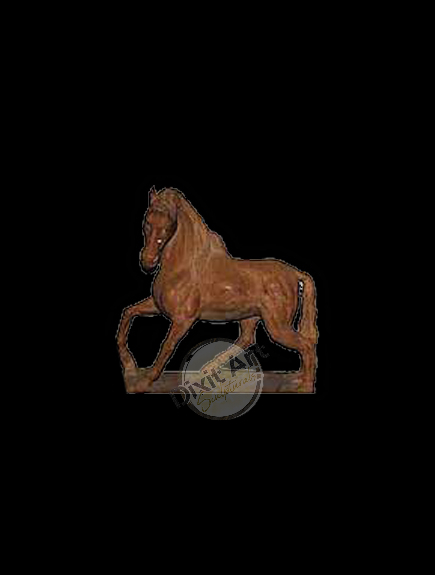 RED MARBLE HORSE
