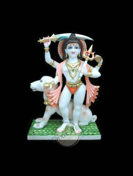 WHITE MARBLE BHAIRVE NATH STATUE